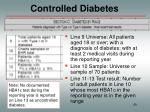 controlled diabetes