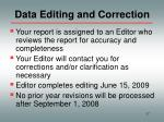 data editing and correction