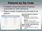 patients by zip code