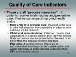 quality of care indicators