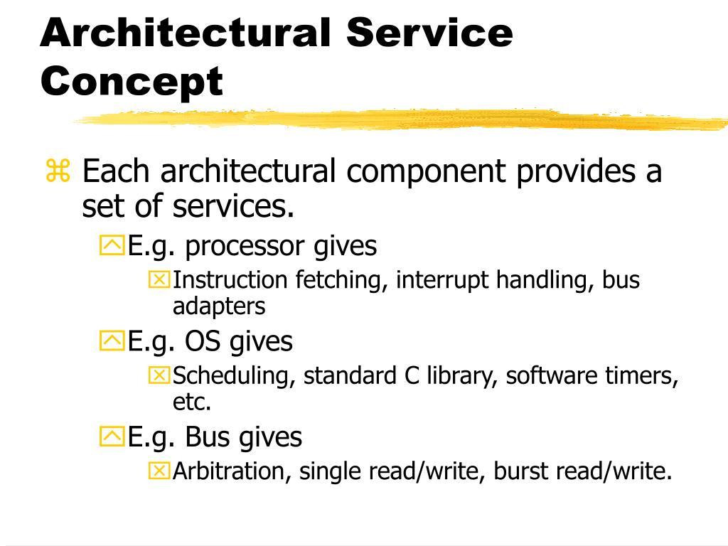 Architectural Service Concept
