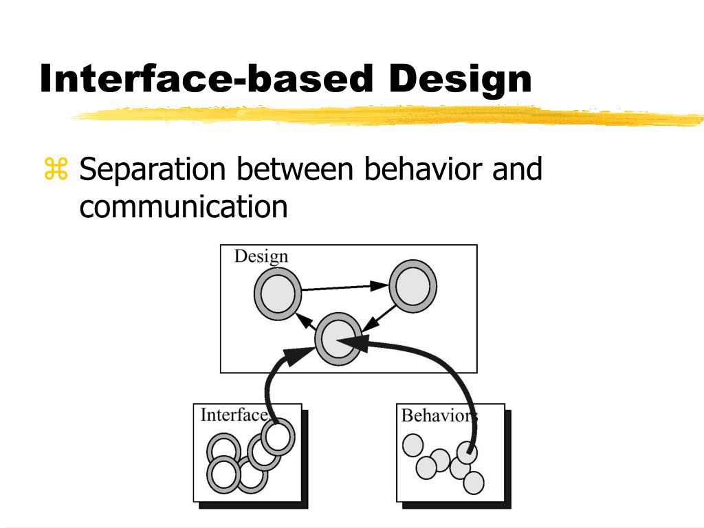 Interface-based Design