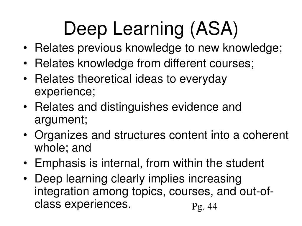 Deep Learning (ASA)