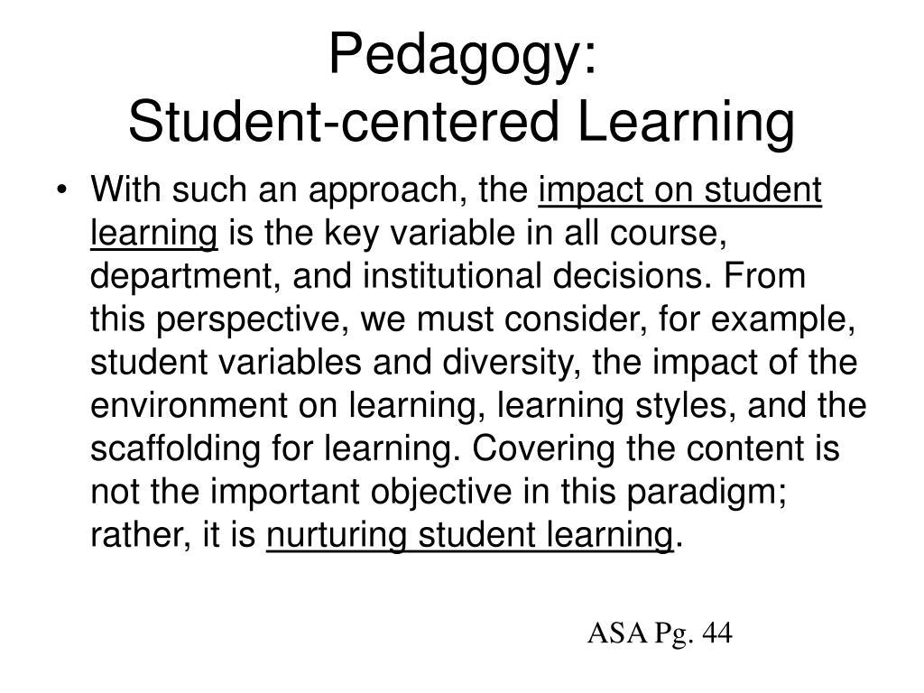 Pedagogy: