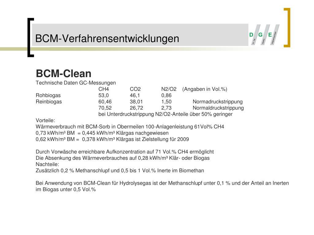 BCM-Verfahrensentwicklungen