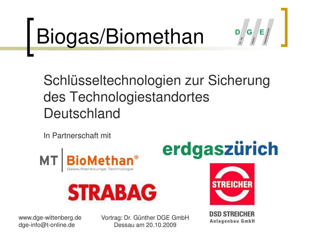 Biogas/Biomethan