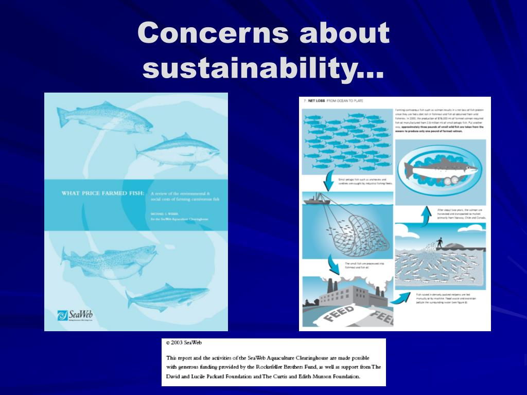 Concerns about sustainability...