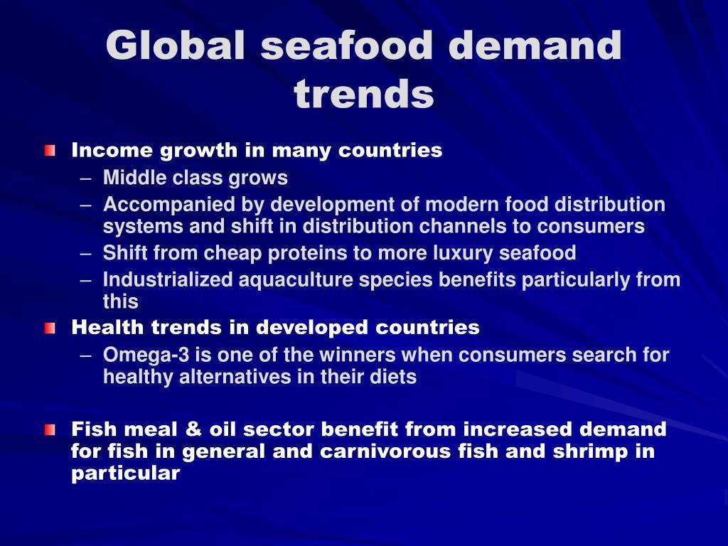 Global seafood demand trends