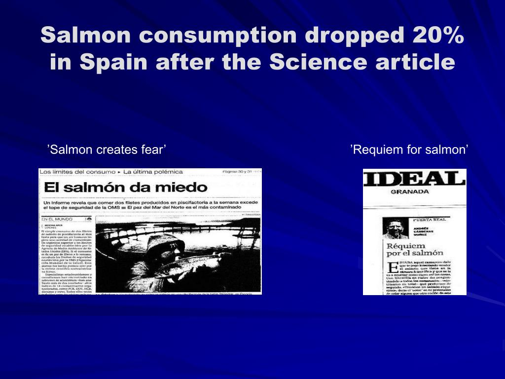 Salmon consumption dropped 20% in Spain after the Science article