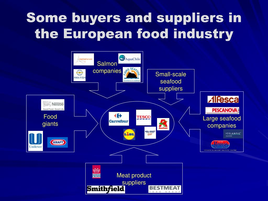 Some buyers and suppliers in the European food industry