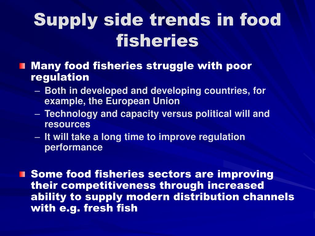 Supply side trends in food fisheries
