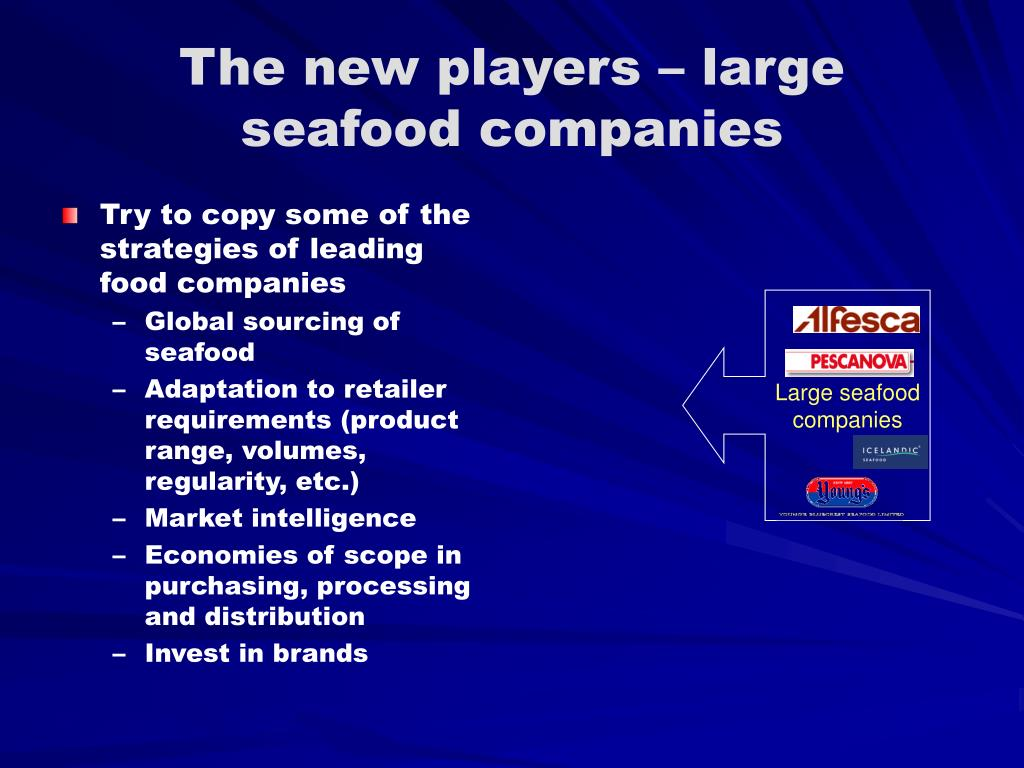 The new players – large seafood companies