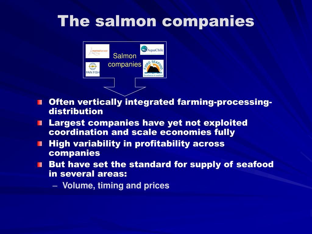 The salmon companies