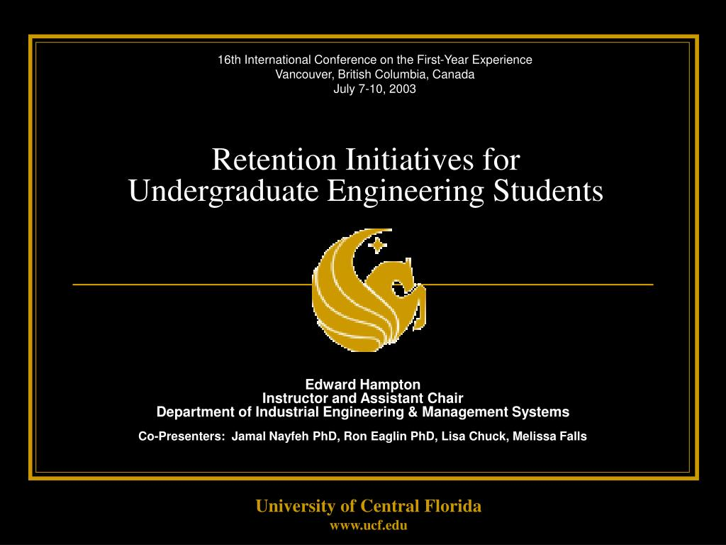 retention initiatives for undergraduate engineering students l.