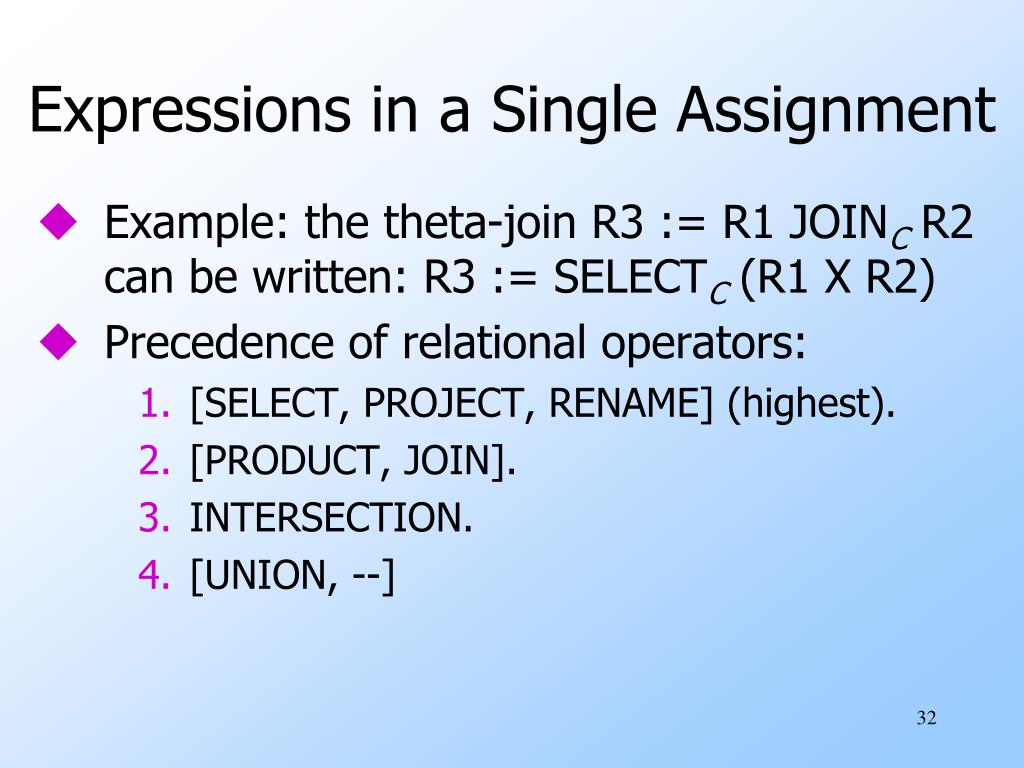 Expressions in a Single Assignment