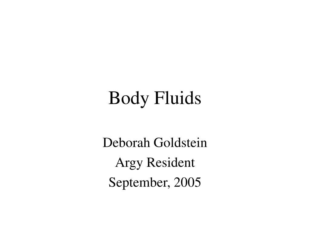 body fluids l.