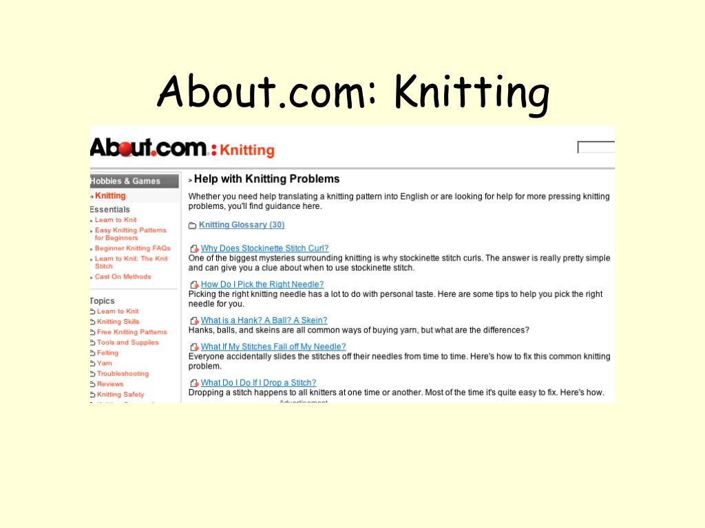 About.com: Knitting