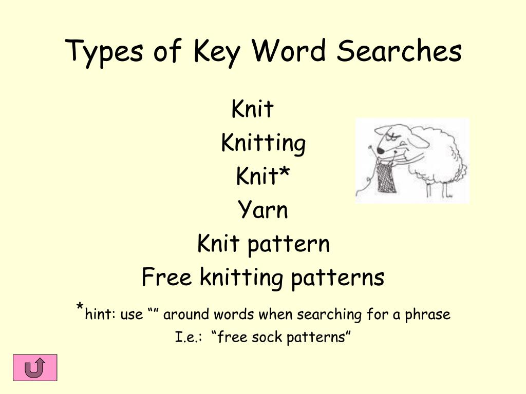 Types of Key Word Searches