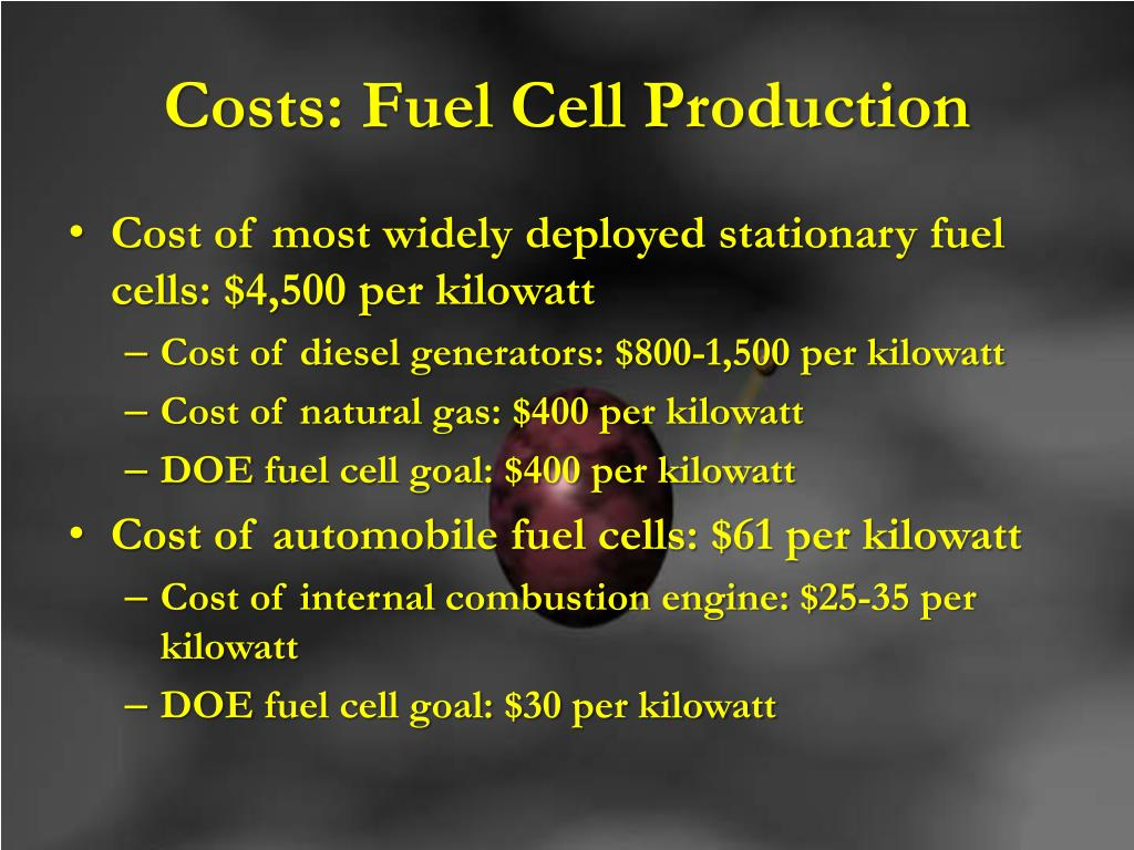 Costs: Fuel Cell Production