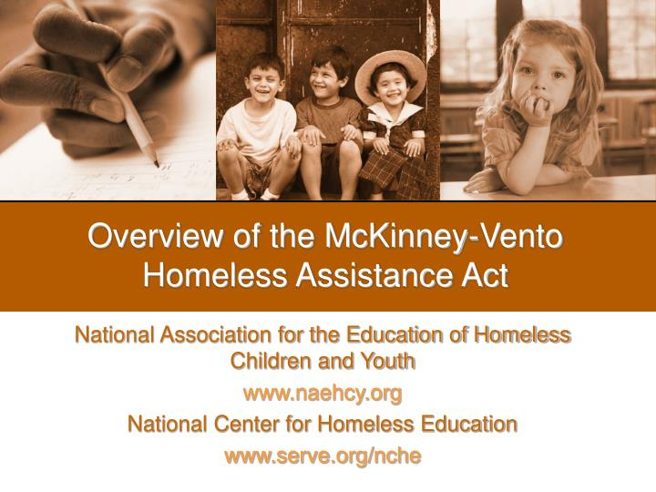overview of the mckinney vento homeless assistance act n.