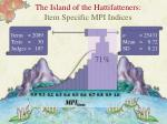 the island of the hattifatteners item specific mpi indices