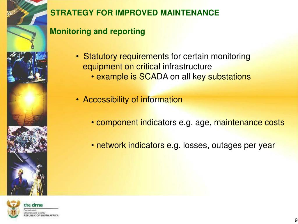 STRATEGY FOR IMPROVED MAINTENANCE