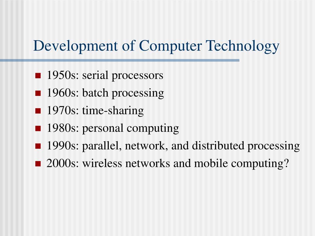 Development of Computer Technology