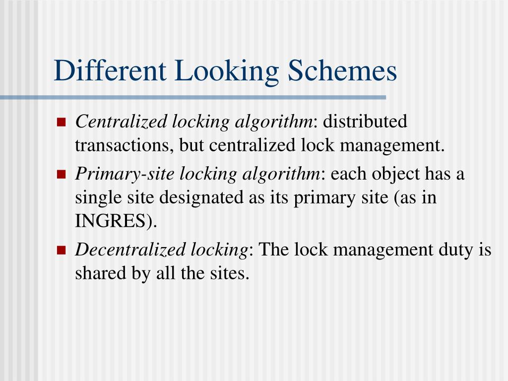 Different Looking Schemes