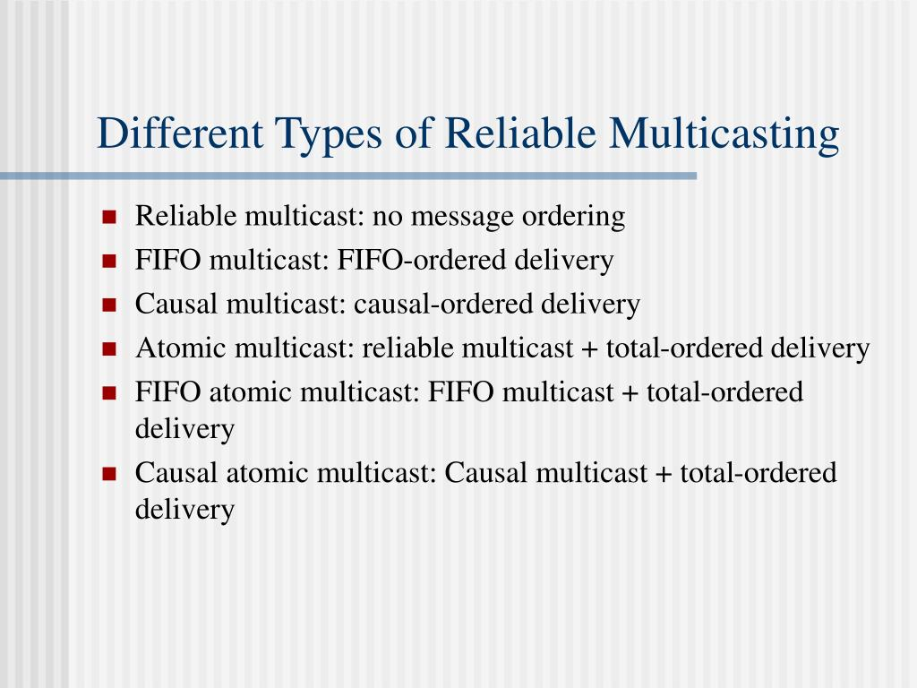 Different Types of Reliable Multicasting