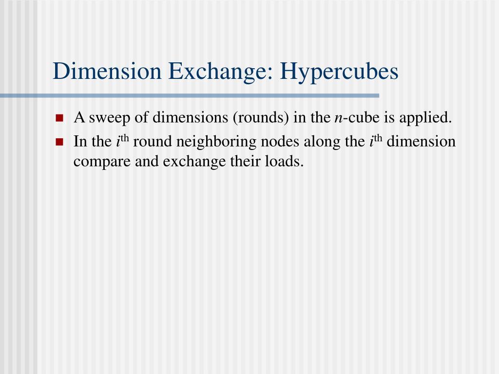 Dimension Exchange: Hypercubes
