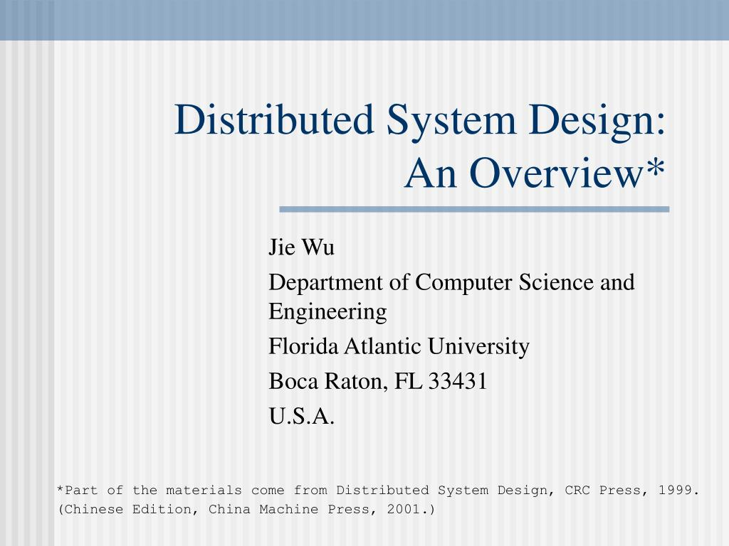Distributed System Design: