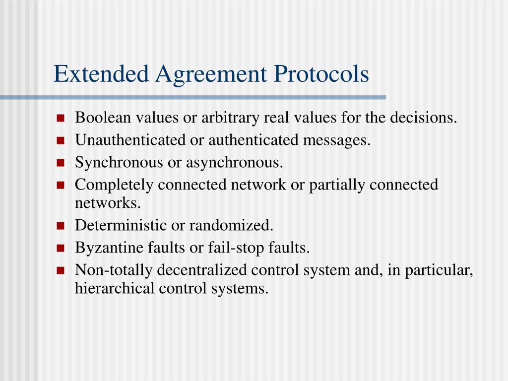 Extended Agreement Protocols