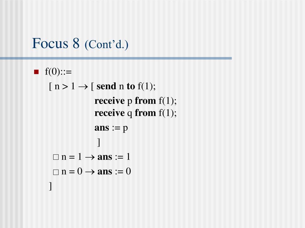 Focus 8