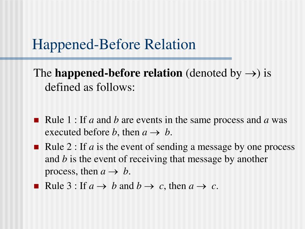 Happened-Before Relation