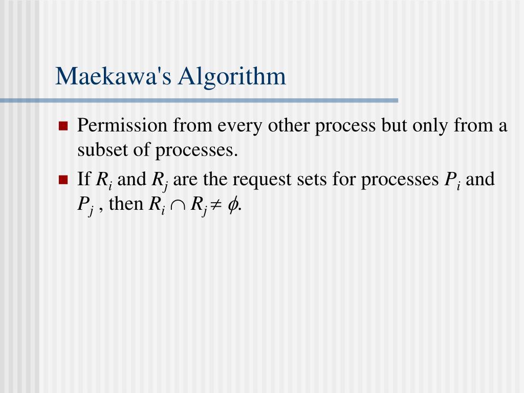Maekawa's Algorithm