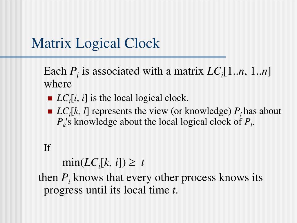 Matrix Logical Clock