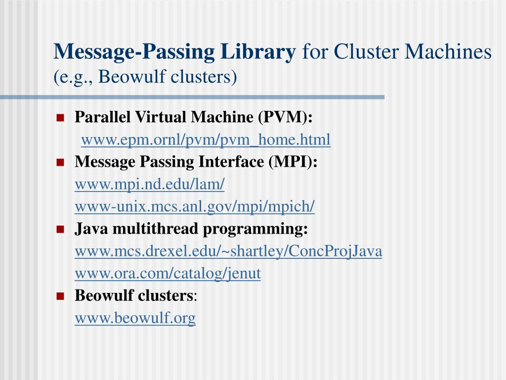 Message-Passing Library