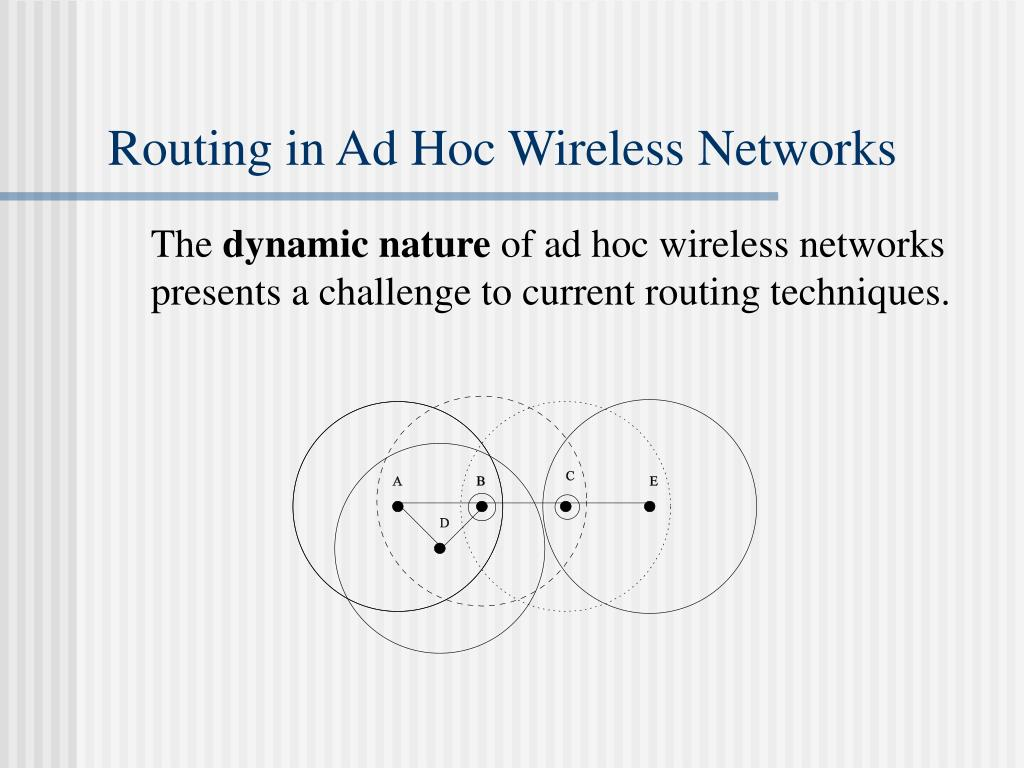 Routing in Ad Hoc Wireless Networks