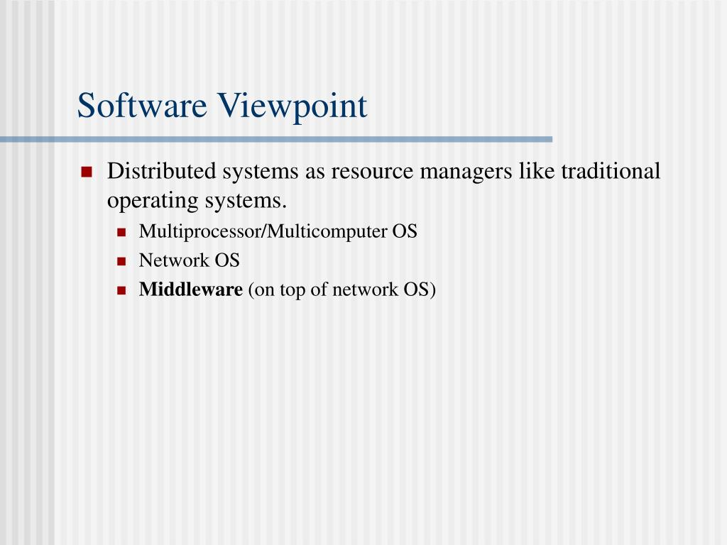 Software Viewpoint