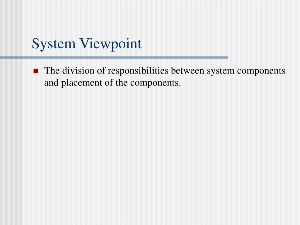 System Viewpoint