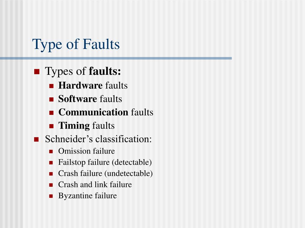 Type of Faults