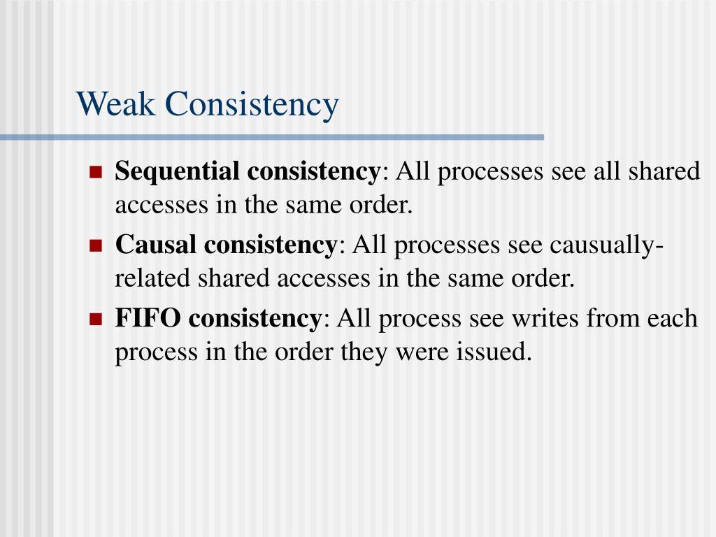 Weak Consistency