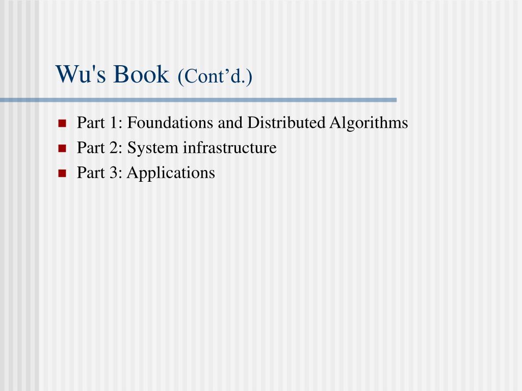 Wu's Book