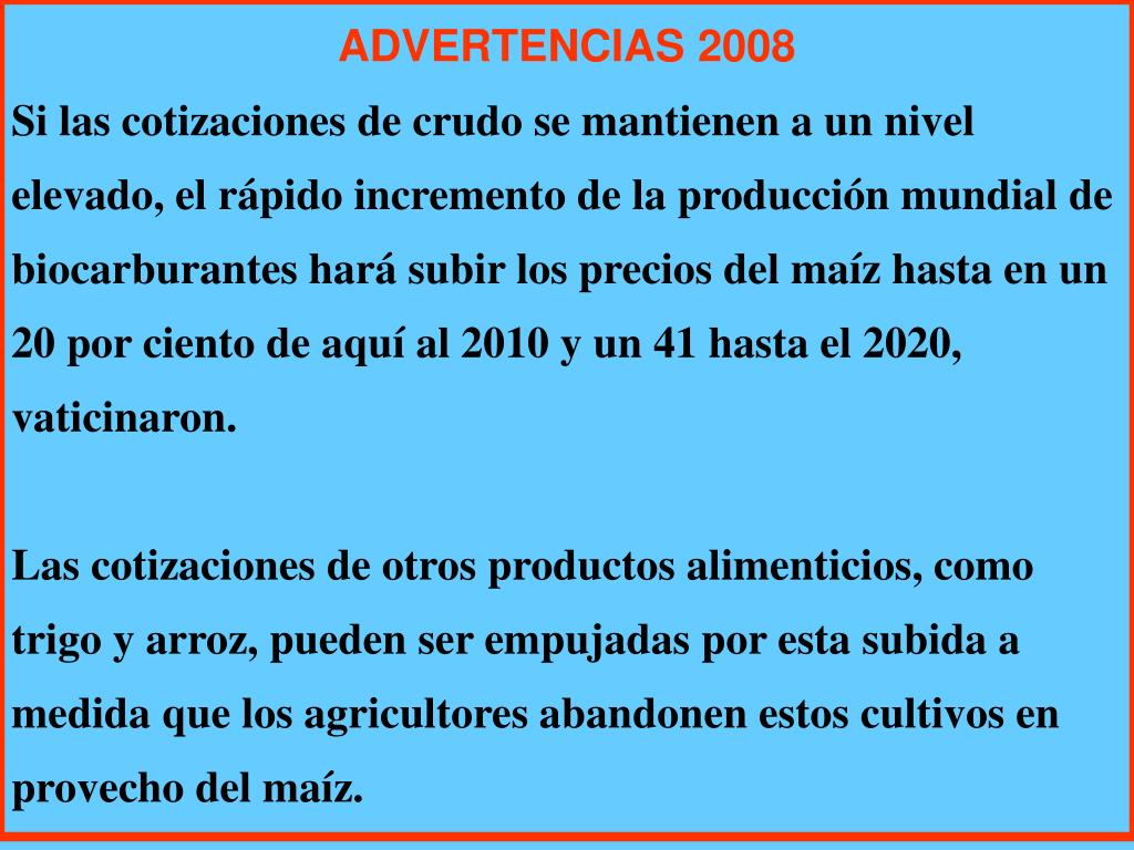 ADVERTENCIAS 2008