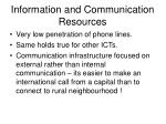 information and communication resources