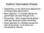 keltron information kiosks
