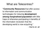 what are telecentres