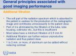 general principles associated with good imaging performance53