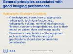 general principles associated with good imaging performance65