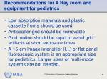 recommendations for x ray room and equipment for pediatrics81